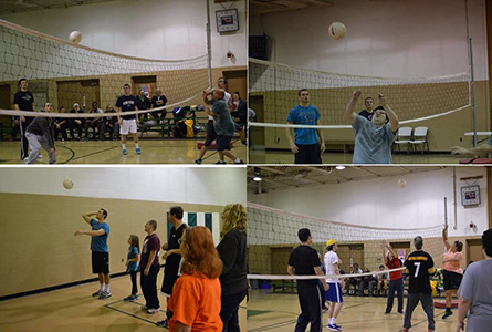 Athletes Help With Special Olympics Volleyball Practices