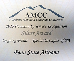 Penn State Altoona Athletics, SAAC Recognized for Special Olympics Volunteer Work