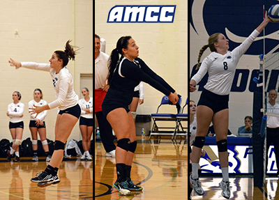 Three Lady Lions Selected to All-AMCC Volleyball Squad
