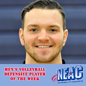 Byers Named NEAC Defensive Player of the Week