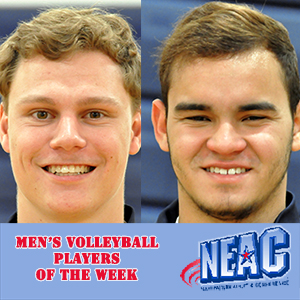 Arentz, Rivera-Berrios Sweep NEAC Men's Volleyball Weekly Awards