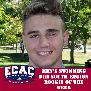 Shmurak Named Men's Swimming Rookie of the Week by ECAC