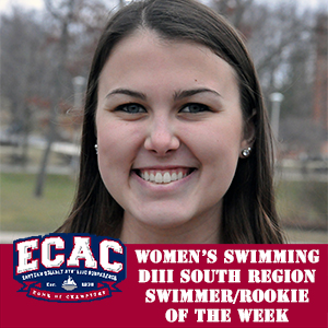 Booz Picked ECAC Women's Swimmer, Rookie of the Week
