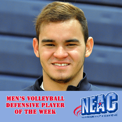 Rivera-Berrios Named NEAC Defensive Player of the Week for Third Consecutive Week