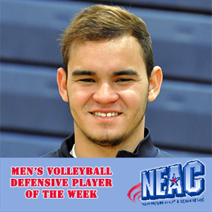 Rivera-Berrios Wins Fourth Straight NEAC Defensive Player of the Week Award