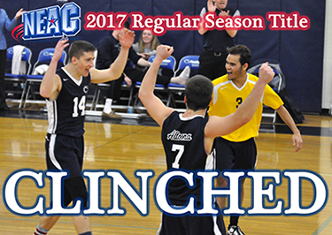Men's Volleyball Defeats Lancaster Bible, Wilson to Clinch NEAC Top Seed