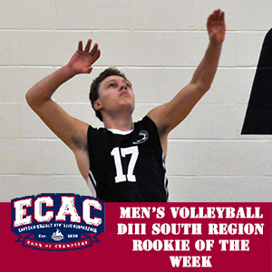Arentz Selected ECAC Division III South Rookie of the Week