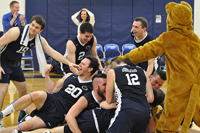 Lions Volleyball Defeats Wells 3-1 to Win NEAC Championship