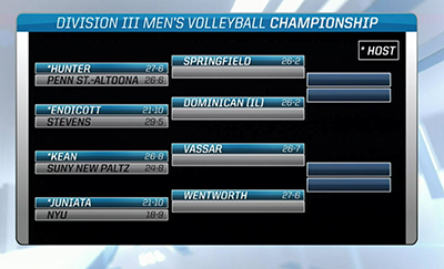Men's Volleyball Draws Hunter in First Round of NCAA Tournament