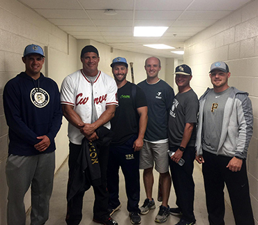 Baseball Coaching Staff Participates in Home Run Derby with Jose Canseco