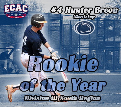 Breon Named ECAC Division III South Rookie of the Year