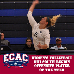 Diller Selected ECAC Regional Offensive Player of the Week